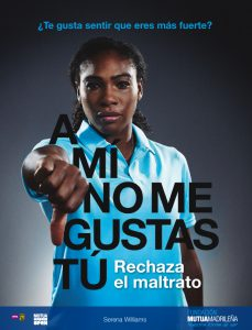 Fundacion Mutua Serena Williams malos tratos abr 16