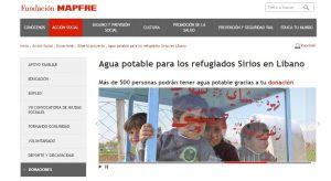 Fundacion Mapfre campana agua refugiados ago 16