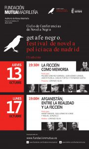 Fundacion Mutua CARTEL CICLO CONFERENCIAS GETAFE NEGRO oct 16