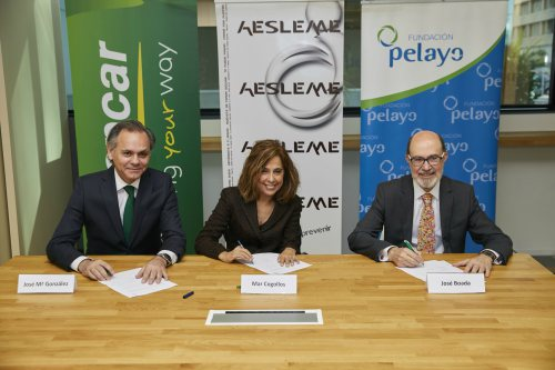 Europcar, Fundación Pelayo y AESLEME