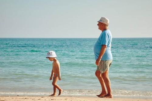 Abuelos en régimen de visita