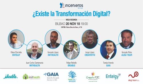 Inithealth participa en la Mesa de Transformación Digital del Colegio de ingenieros de Vizcaya