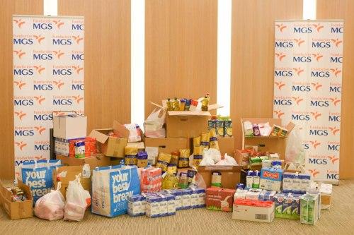 Fundación MGS recoge más de 5.000 kilos de productos para el Banco de Alimentos