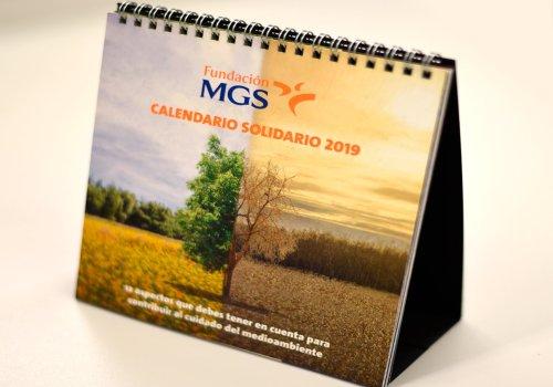La Fundación MGS invita a cuidar del medioambiente a través de su Calendario Solidario 2019
