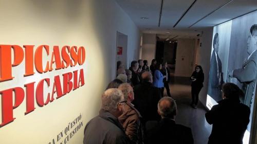Colegiados gerundenses visitan la exposición Picasso-Picabia