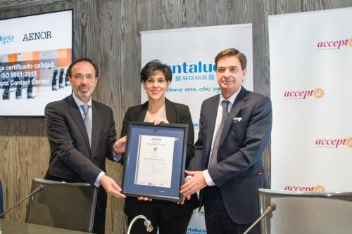 Accepta consigue la certificación ISO por su sistema de gestión