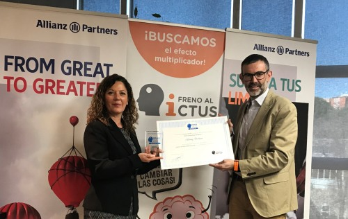 Freno al Ictus entrega a Allianz Partners el sello Brain Caring People Empresa por su apoyo