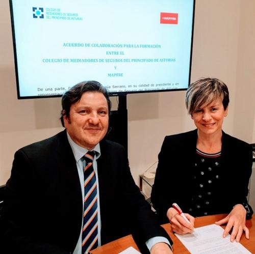 El Colegio de Asturias y Mapfre renuevan un año más su colaboración