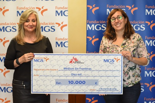 Fundación MGS dona 10.000 euros a Médicos Sin Fronteras
