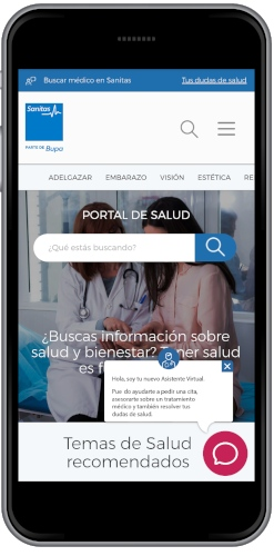 Asistente Virtual Psicológico de Sanitas que cuida la salud mental
