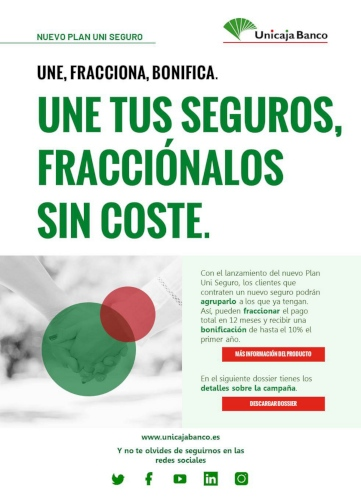 Unicaja Banco unifica todos tus seguros