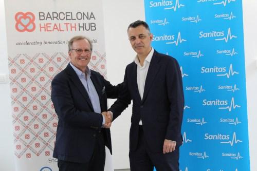 Sanitas firma un acuerdo de colaboración con Barcelona Health Hub