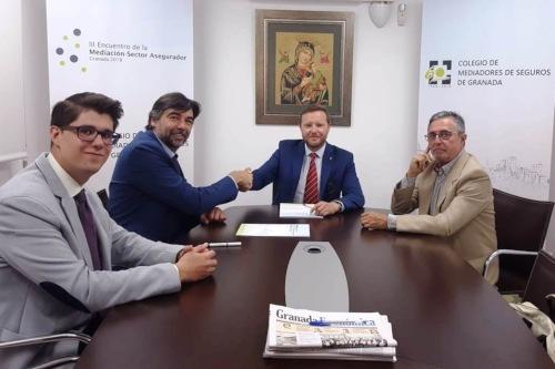 El Colegio de Mediadores de Granada y Asisa renuevan su acuerdo