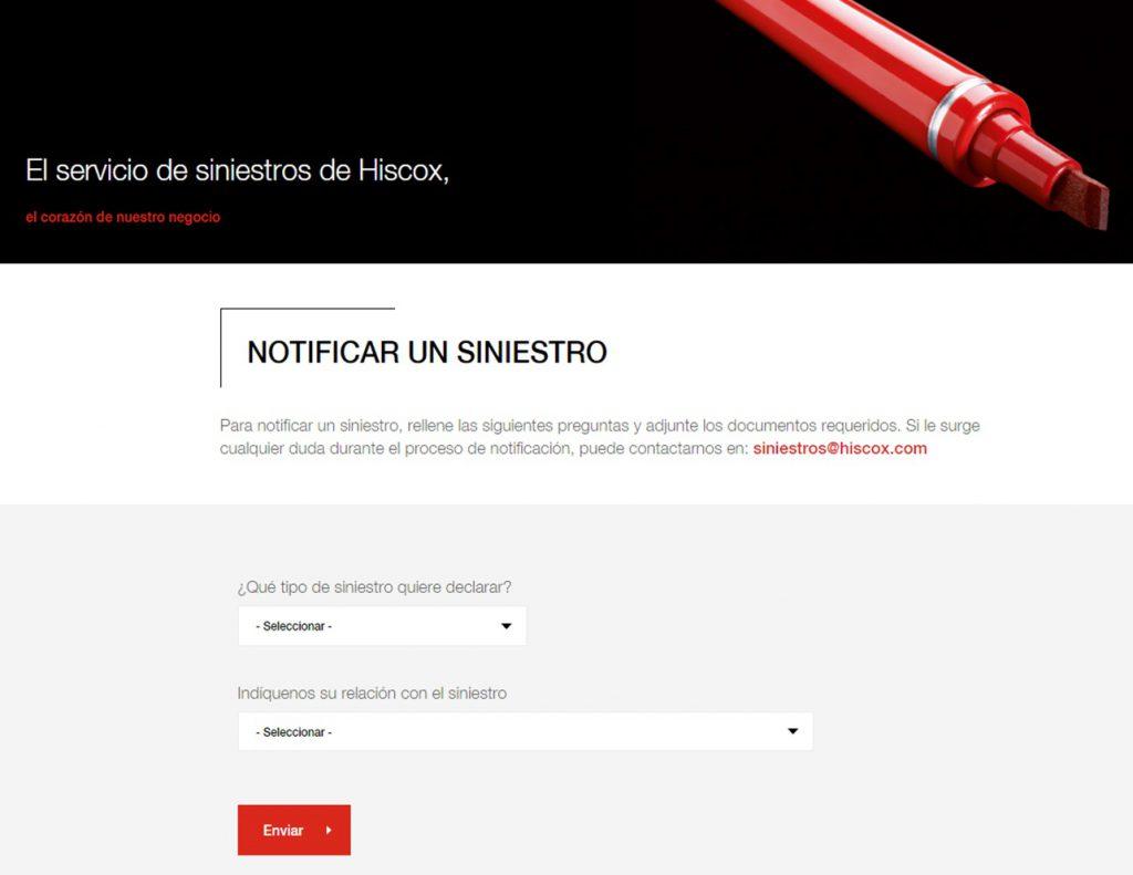 Hiscox canales digitales siniestros