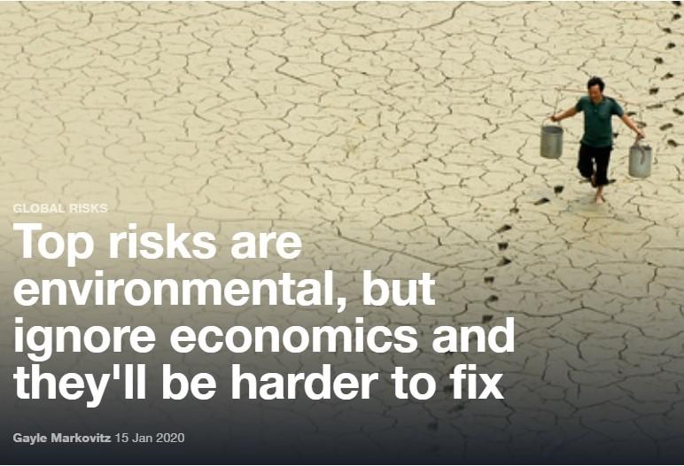 Foro Davos riesgos cambio climático noticias de seguros