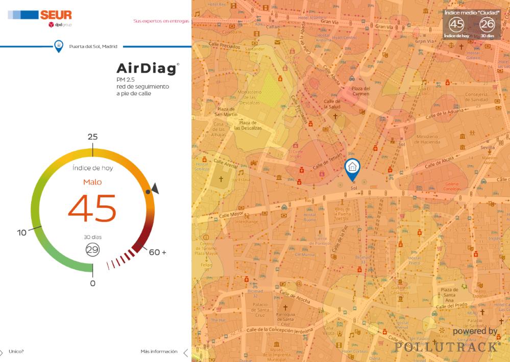 SEUR calidad aire Madrid noticias de seguros
