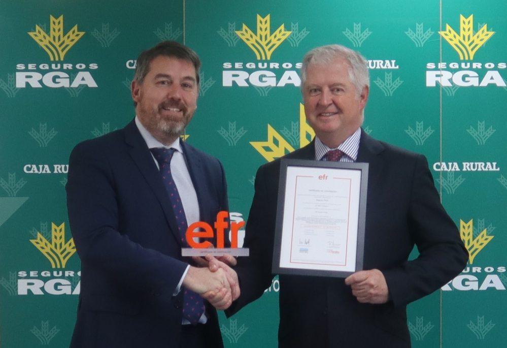 Seguros RGA certificado efr noticias de seguros