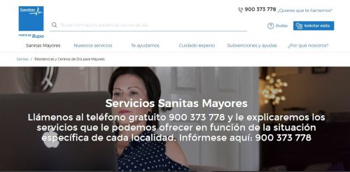 Sanitas Mayores visitas noticiasd e seguros