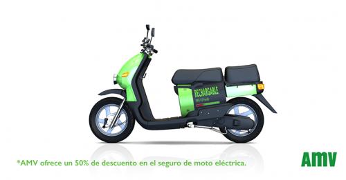AMV moto eléctrica noticias de seguros