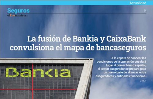 Fusión Bankia y CaixaBank y bancaseguros noticias de seguros