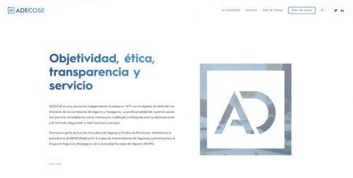 ADECOSE nueva web noticias de seguros