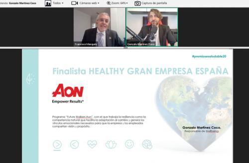 Aon en los Premios Empresa Saludable noticias de seguros