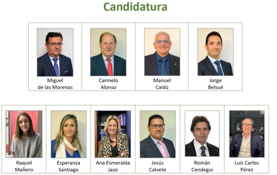Colegio de Zaragoza candidatura de Miguel de las Morenas noticias de seguros