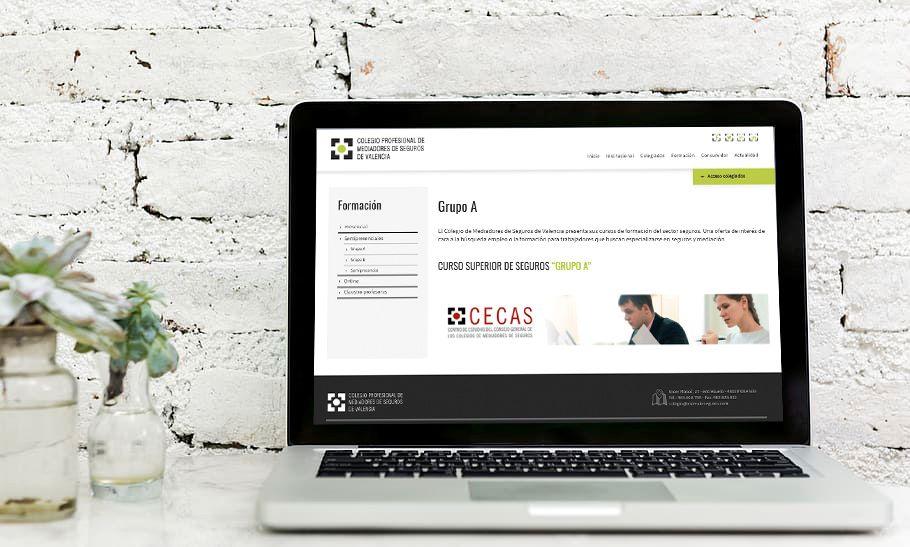 Colegio de Valencia examen online. Noticias de seguros