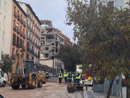 Umas asegura el edificio de la calle Toledo. Notcias de seguros. Imagen de Emergencias Madrid.