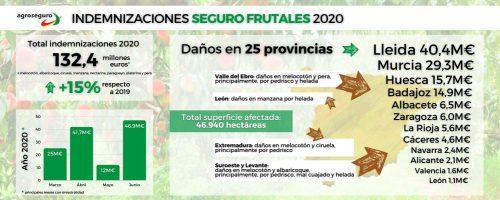 Agroseguro indemnización frutales. Noticias de seguros