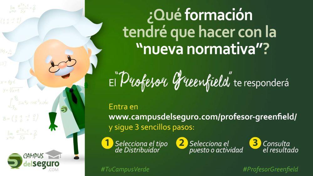 Profesor Greenfield y Campus del Seguro. Noticias de seguros