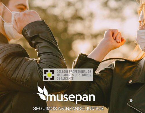 Musepan renueva con el Colegio de Alicante. Noticias de seguros