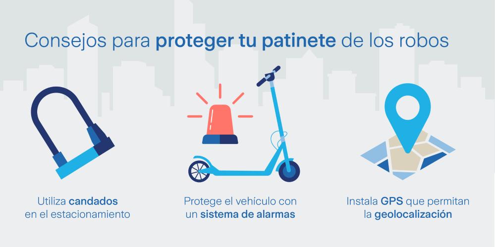 Consejos para evitar el robo del patinete eléctrico. Noticias de seguros