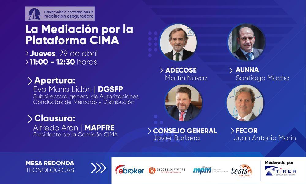 Webinar sobre la plataforma CIMA. Noticias de seguros