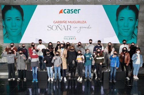 Caser realiza un encuentro con la tenista Garbiñe Muguruza. noticias de seguros
