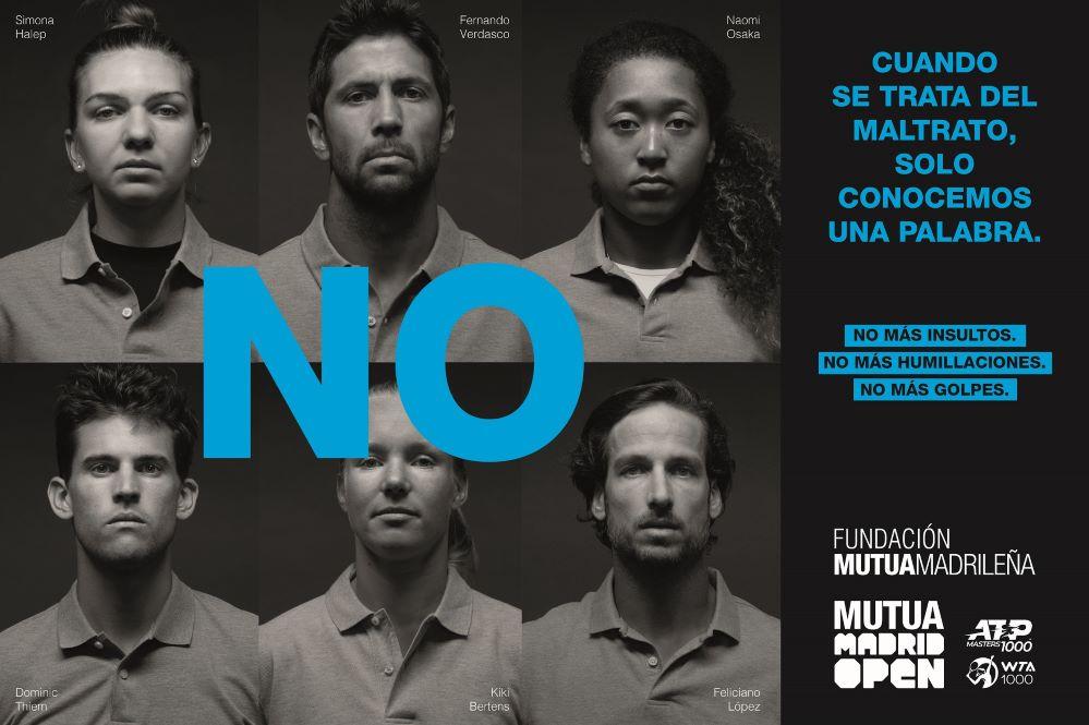 Los tenistas del Mutua Madrid Open dicen no al maltrato. Noticias de seguros