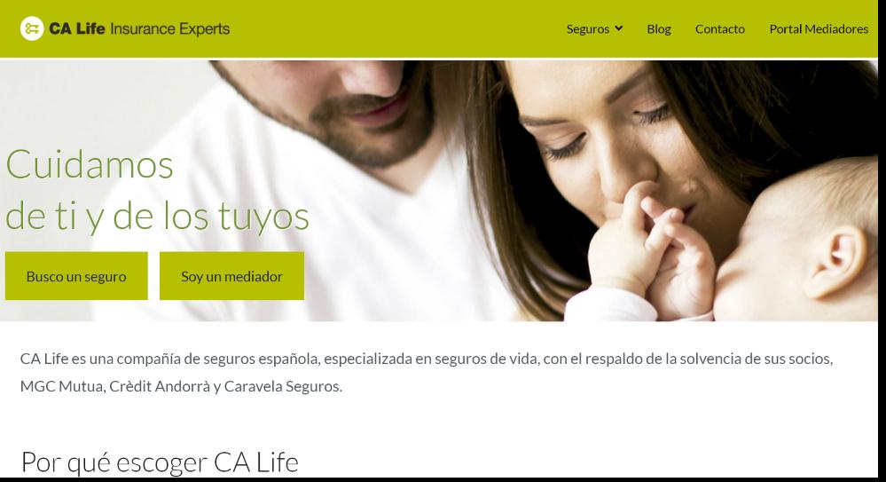 CA Life estrena web. Noticias de seguros