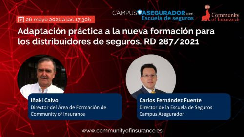 Campus Asegurados y COI organizan un webinar sobre formación. Noticias de seguros.
