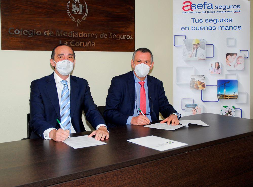 Acuerdo de Asefa con el Colegio de Coruña. Noticias de seguros