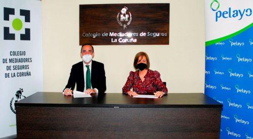 El Colegio de A Coruña refuerza su colaboración con Pelayo. Noticias de seguros.