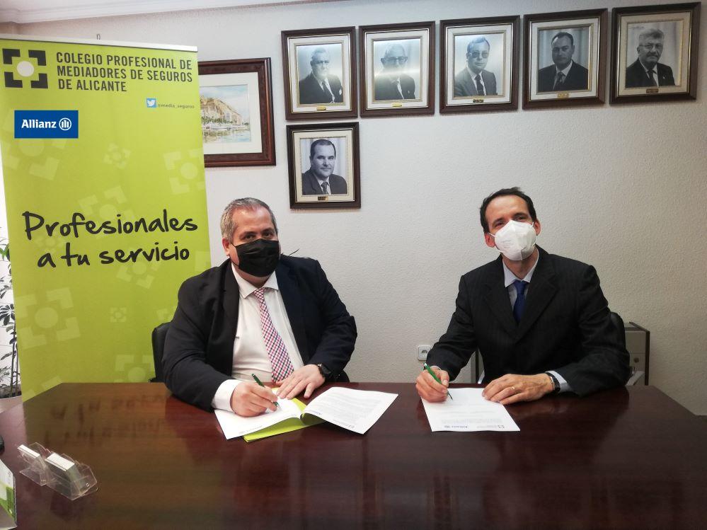 El Colegio de Alicante firma con Allianz. Noticias de seguros.