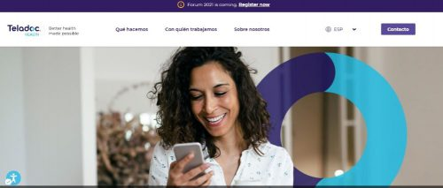 Teladoc Health aumenta un 109% los ingresos en el segundo trimestre de 2021.