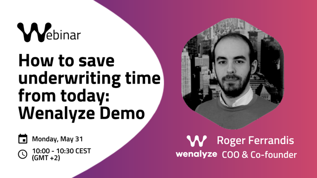 Presentación de Wenalyze Demo. Noticias de seguros.