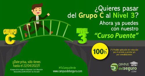 Campus del Seguro lanza su curso puente entre el Grupo C y el nivel 3. Noticias de seguros.