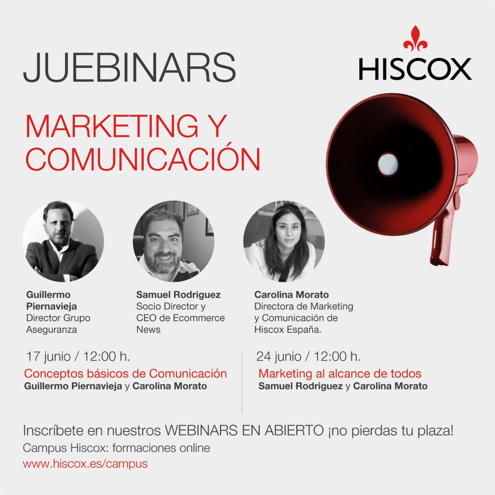 Hiscox presenta sus #juebinars de junio. Noticias de seguros.