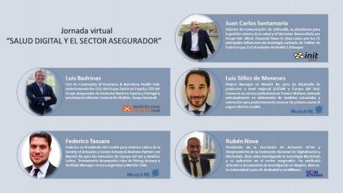 """Munich Re, Grupo Init y Barcelona Health en jornada """"Salud Digital y el sector asegurador"""", organizada por Asociación Actuarios UC3M y FNDB."""