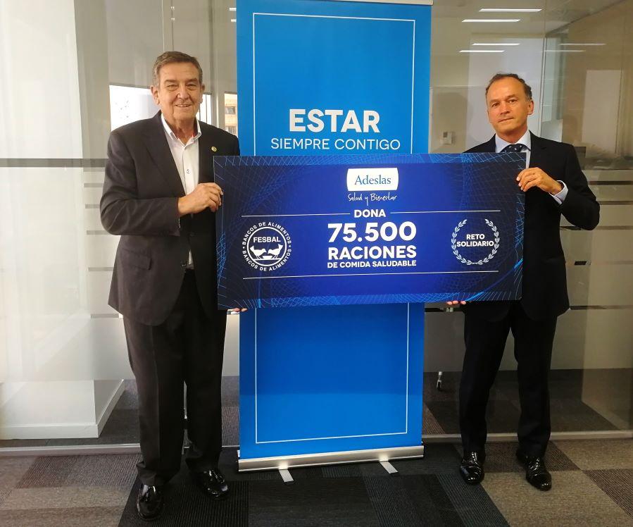 SegurCaixa Adeslas dona 20.000 euros a la Federación de Bancos de Alimentos.