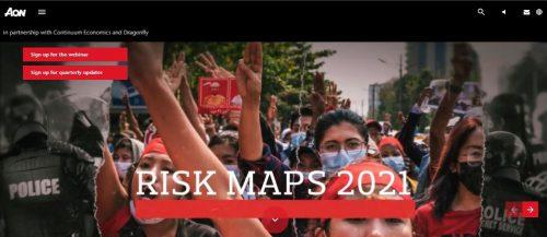Aon ha publicado sus Mapas de Riesgo 2021.