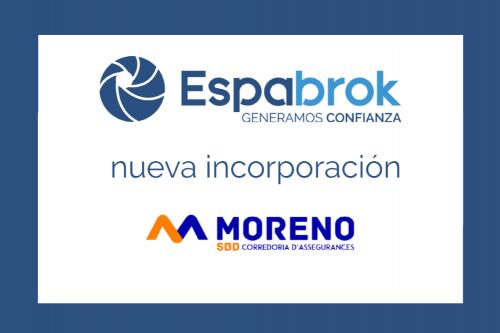 Moreno SBD Correduría se incorpora a Espabrok.