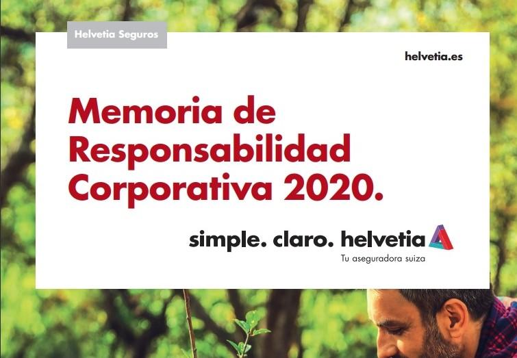 Helvetia Seguros publica su 13ª Memoria de Responsabilidad Corporativa.